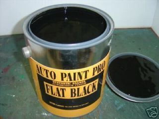 AUTO PAINT FLAT BLACK ENAMEL CAR PAINT
