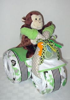 Newly listed DIAPER CAKE TRICYCLE TRIKE MOTORCYCLE BABY SHOWER MONKEY