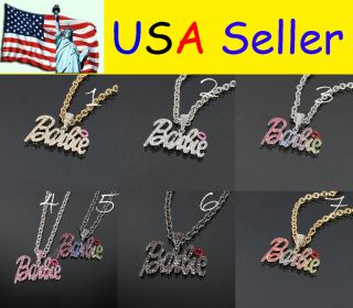 Rhinestone Shimmering Crystal Bling Nicki Minaj 2 BARBIE Necklace