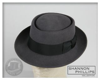 Grey PORKPIE Jazz Hat ALL SIZES INSTOCK New Pork Pie