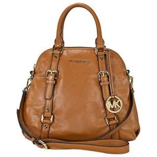 Michael Kors Large Bedford Bowling Satchel in Tan 30H1GBFS7L