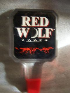 NEW Red Wolf Lager Blue 6 Beer Tap Handle Rat Rod Gear Shifter COOL