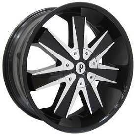 20 Phino 20 inch 20x8.5 PW128 Mag 7 DUB Chevy RIMS Wheels & TIRES