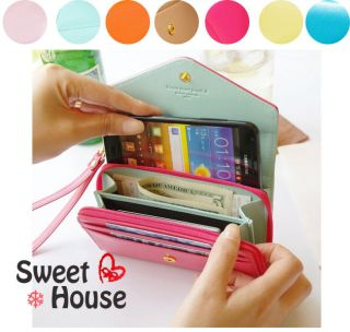 4s 5 bag Card Coin Wallet purse Mobile phone Covers case Samsung S3
