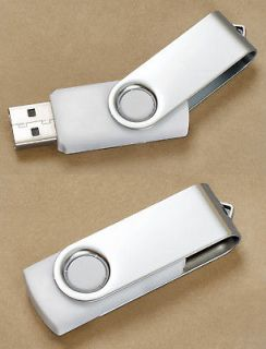 Premium White Swivel USB Flash Memory Drive(Stick/Pen/Thumb) 16GB