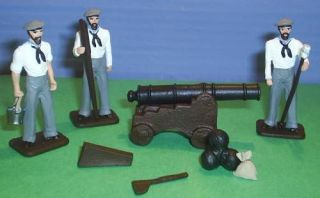 TOY SOLDIERS LEAD CIVIL WAR CONFEDERATE NAVY GUN SET