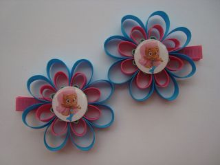 BUBBLE GUPPIES MOLLY LOOPY FLOWER HAIR CLIPS SET