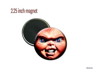 Chucky Childs Play Killer doll face 2 1/4 inch magnet