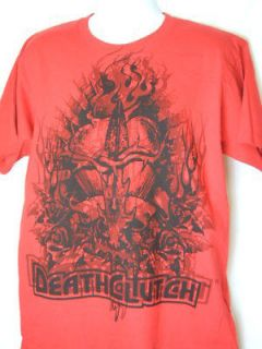 DEATH CLUTCH Barbed Heart Premium Red T shirt NEW