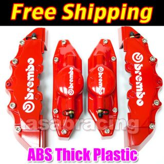 RED Brembo Look Brake Caliper Cover Kit Front/Rear 4pcs