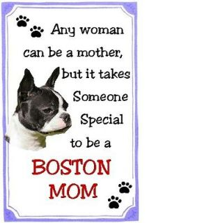Boston Terrier Mom Refrigerator Magnet