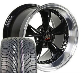 17 9/10.5 Black Bullitt Bullet Wheels Nexen Tires Rims Fit Mustang