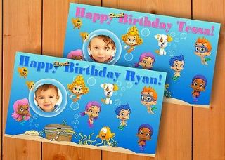 Bubble Guppies 4 FT. BY 2.5 FT. XL  Custom  Birthday Banner Party