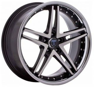 20 inch 20x9 Rohana RC5 black chrome lip wheel rim 5x120 Range Rover