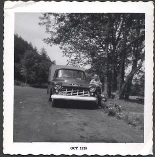 Photo Retired Man w/ 1955 Chevrolet Chevy Pickup Truck Camper 716332