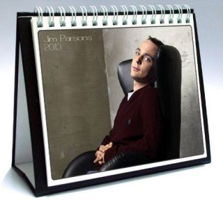 JIM PARSONS 2013 Desktop Holiday Calendar THE BIG BANG THEORY Sheldon