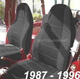 Neoprene Black Color Car Seat Cover Full Set YJ8796127 (Fits Jeep