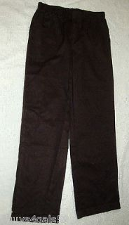 Womens WHITE STAG Pull On CASUAL PANTS Wide Leg Black S 4 6 M 8 10 L