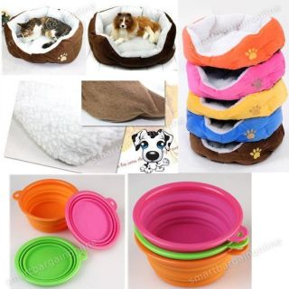Cat Soft Sofa Bed House + Mat Cushion/Collapsible Dish Feeder Water