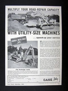 Case Utility Size Model 310 Crawler Loader Backhoe 1961 print Ad