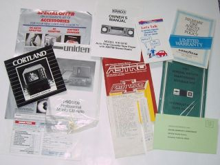 Lot of ownership documents for 1988 Chevrolet Astro Conversion Van