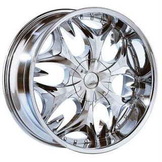 26 inch B3 chrome wheels rims Chevy Avalanche Tahoe Z71
