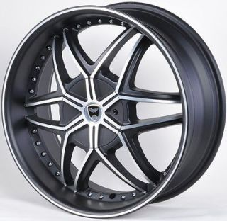 MAT BLACK WHEELS RIMS DODGE INTREPID CALIBER AVENGER CALIBER STRATUS