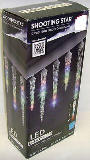 Set 8 Multi Color LED Falling Shooting Star Light Show Christmas