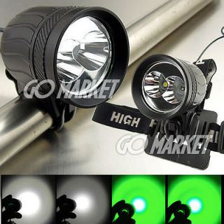 Newly listed 2x CREE LED XM L T6 +XPE R2 GREEN LED Bicycle Light Bike