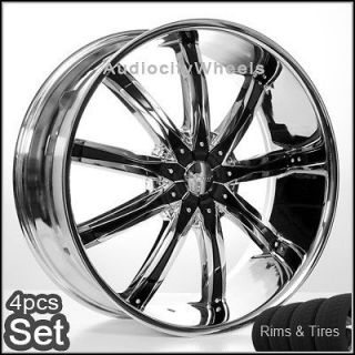 24 inch Rims and Tires Wheels Chevy Ford Cadillac, H2