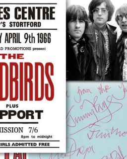 Yardbirds Jimmy Page Memorabilia Autographs 60s Mounted Display