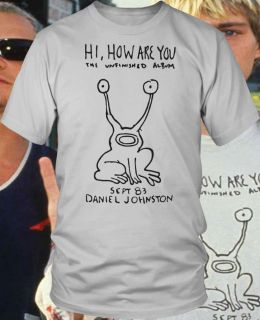 Daniel Johnston Shirt hi how are you INDIE nirvana rock Kurt Cobain s