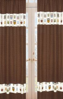 DESIGNS MODERN FOREST OWL WINDOW TREATMENT PANELS CURTAINS COVERINGS