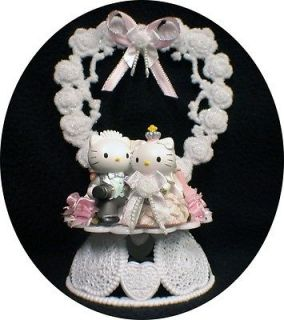 HELLO KITTY SANRIO wedding Cake topper Pretty in pink