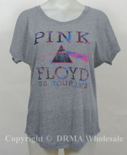 Authentic PINK FLOYD US Tour 1972 Girl Juniors Dolman T Shirt S M L XL