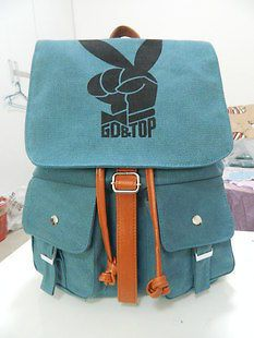 Korea Kpop Bigbang G dragon GD&Top Vintage Rock Canvas Backpack