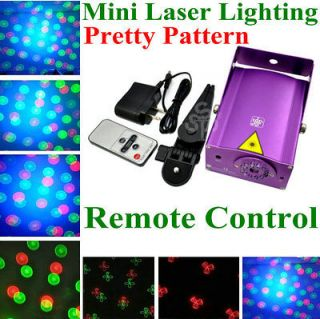 PURPLE Portable Mini Laser Stage Light Effect Projector Disco Party DJ
