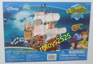 Disney Peter Pan Jolly Roger Pirate Galleon Ship New