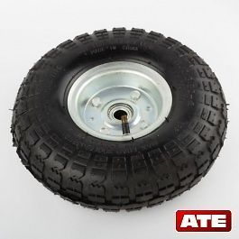 10 INCH PNEUMATIC AIR FILLED TIRE AND RIM FOR DOLLY HAND TRUCK