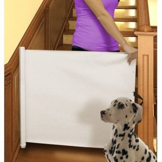 PULL OUT RECTRACTABLE PET BABY CHILD GATE BARRIER DOOR WAY RETRACTING