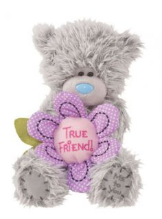 Douglas Cuddle Toys 6 Plush TATTY TEDDY True Friend Bear With Flower
