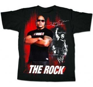WWE The Rock Unleashed Mens T Shirt Tee