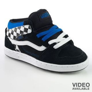 Vans EDGEMONT BOYS Skateboard Shoes size 5 black blue without box