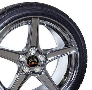 18 9/10 Chrome Saleen Style Wheels Nexen Tires Rims Fit Mustang® GT