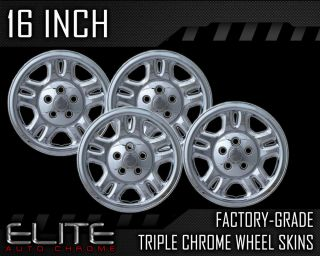 2004 Jeep Liberty 16 Chrome Wheel Skin Covers (Fits Jeep Liberty