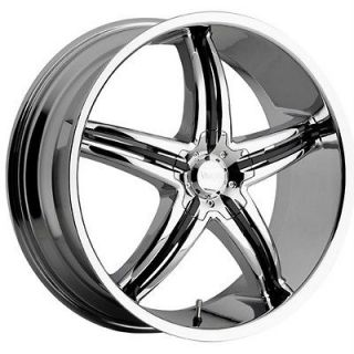 20 inch Viscera 770 chrome black wheels rims 5x115 +20