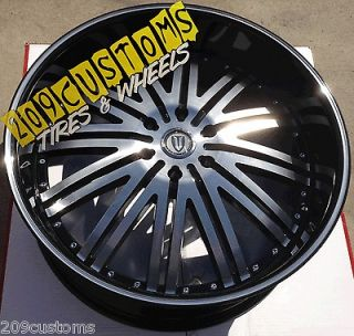 22 INCH VERSANTE RIMS WHEELS TIRES VW212 22X9.5 5X115 MAGNUM 2005