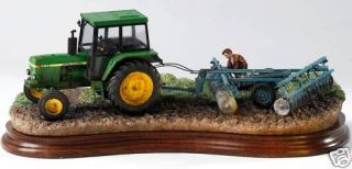 Arts Classic Ray Ayres Greasing The Wheels B1144 John Deere Tractor