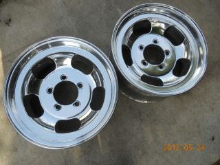 JUST POLISHED 16.5x8.25 SLOT MAG WHEELS FORD TRUCK JEEP MAGS BRONCO 5