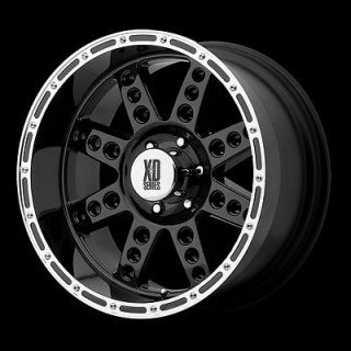 XD Series Diesel XD766 5,8 Lug Black Wheels Rims FREE Caps Lugs Stems